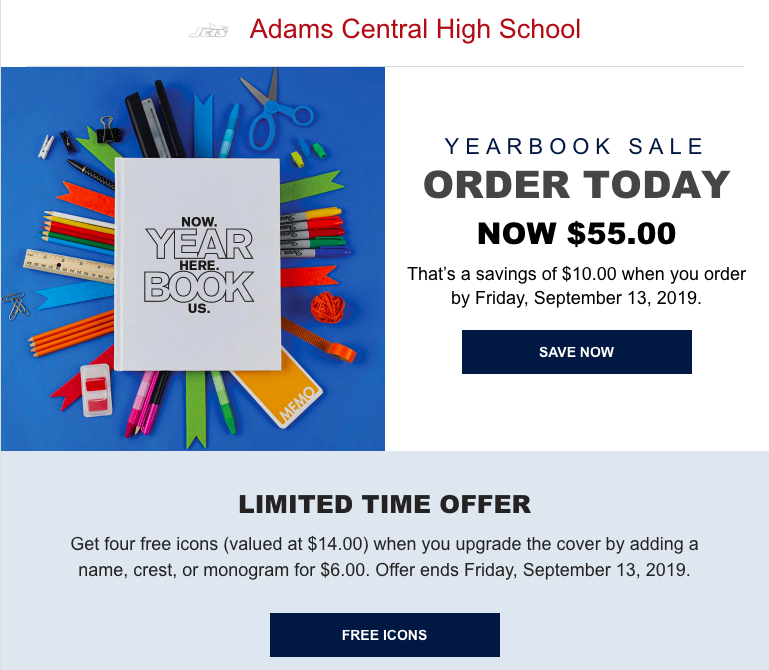AC Yearbook Sale