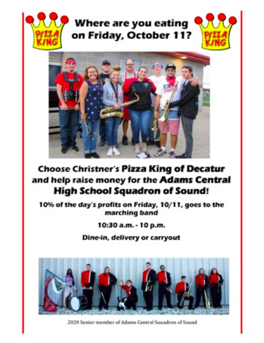 Band Fundraiser at Pizza King