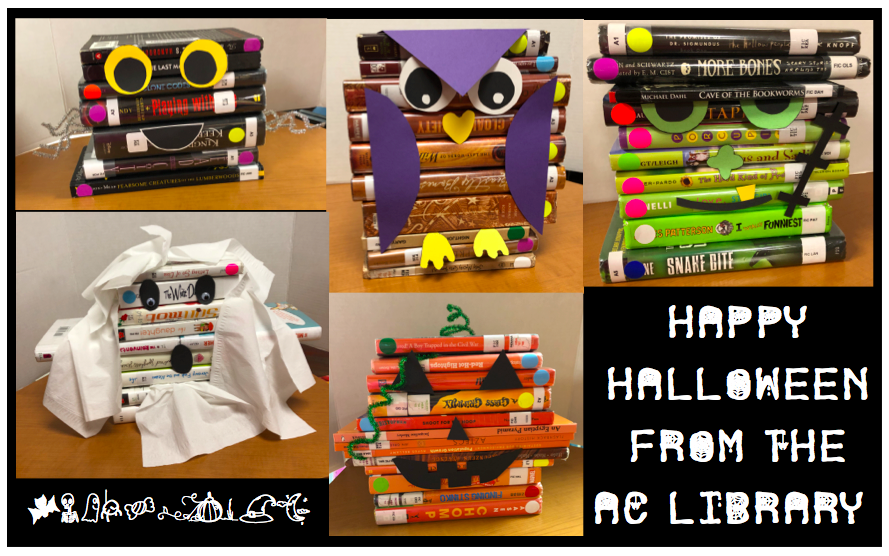 Halloween Book Stack