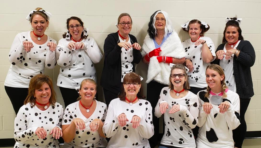 Mrs. Laurent and her dalmations