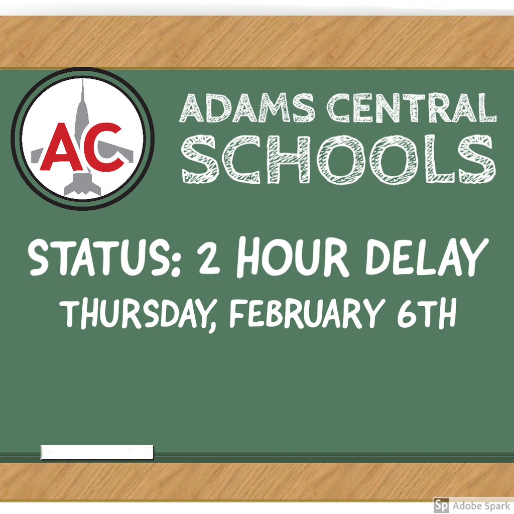 2 hr delay - Feb 6th