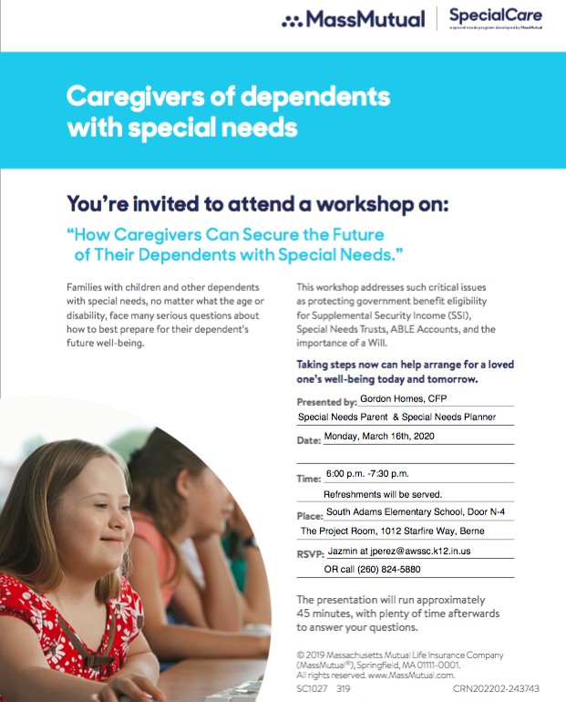Special Needs Workshop