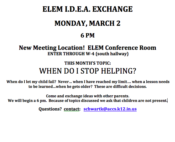 ELEM Idea Exchange