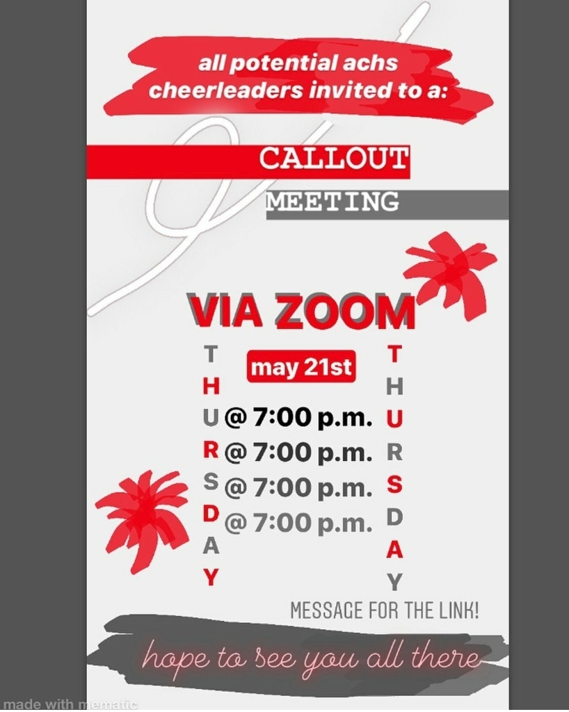 Cheer Callout