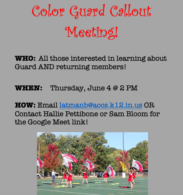 Color Guard Call Out Meeting