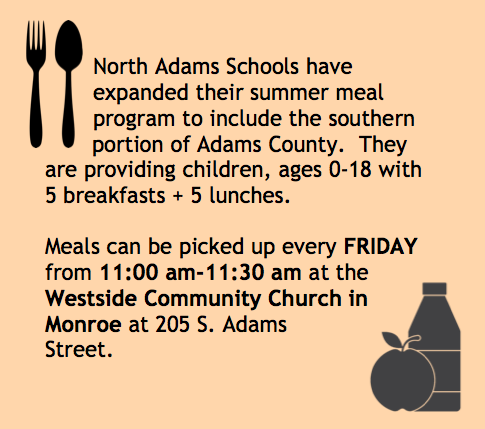 Summer Meals Available Friday